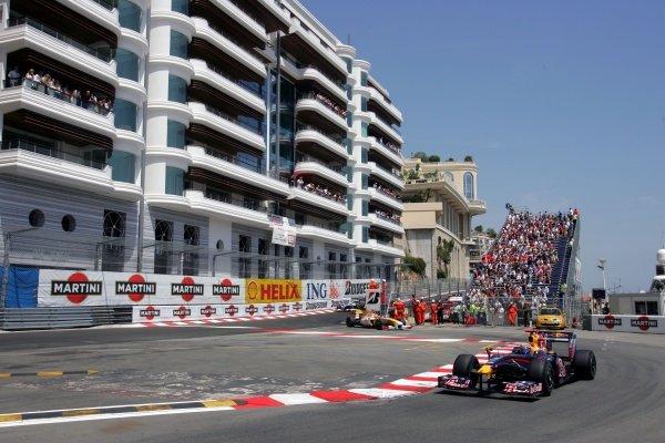 Mark Webber (AUS) Red Bull Racing RB5. Formula One World Championship, Rd 6, Monaco Grand Prix, Race, Monte-Carlo, Monaco, Sunday 24 May 2009.
