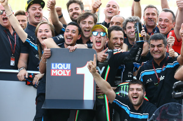2017 Moto3 Championship - Round 6 Mugello, Italy Sunday 4 June 2017 Race winner Andrea Migno, Sky Racing Team VR46 World Copyright: Gold & Goose Photography/LAT Images ref: Digital Image 674650