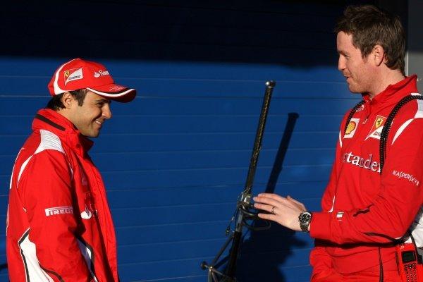(L to R): Felipe Massa (BRA) Ferrari with Rob Smedley (GBR) Ferrari Race Engineer.Formula One Testing, Day 2, Jerez, Spain, Wednesday 8 February 2012.