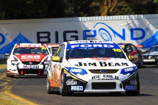 James Courtney (AUS) Jim Beam DJR Ford, won race 24 and extended his lead in the championship with 2 races to go.Australian V8 Supercars, Rd13, Norton 360 Sandown Challenge, Sandown International Raceway, Melbourne, Australia. 19-21 November 2010.