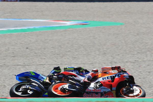 Marc Marquez, Repsol Honda Team, Alex Rins, Team Suzuki MotoGP.
