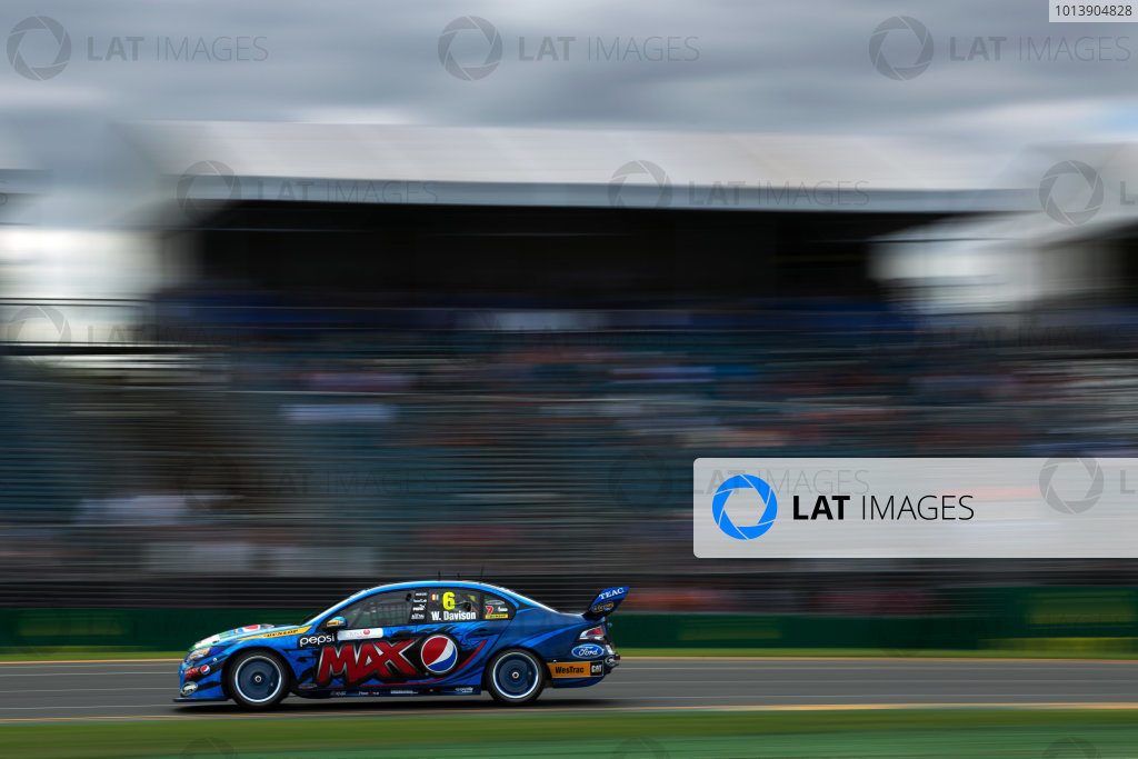 2013 V8 Supercars Australian Grand Prix. Albert Park, Melbourne. Will Davison (Pepsi Max Crew/Ford Performance Racing – Ford Falcon FG) Action.  World Copyright:  Daniel Kalisz/LAT Photographic Ref: Digital Image A41Q7599.JPG.
