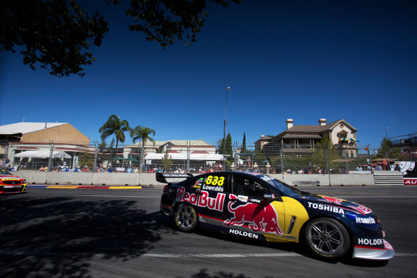 2013 V8 Supercar Championship. Round 1. Clipsal 500, Adelaide. 3rd March 2013. Sunday Race 2. Craig Lowndes (Red Bull Racing Australia/Triple Eight Race Engineering – Holden Commodore VF) Action.  World Copyright:  Daniel Kalisz/LAT Photographic Ref: Digital Image DKAL7066.jpg .