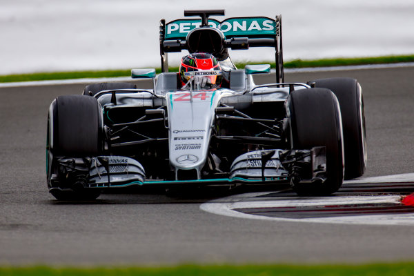 Silverstone, Northamptonshire, UK. Wednesday 13 July 2016. Esteban Ocon, test and development driver, Mercedes F1 W07 Hybrid.  World Copyright: Zak Mauger/LAT Photographic ref: Digital Image _79P2014
