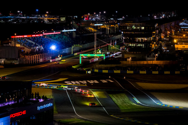 2016 Le Mans 24 Hours. Circuit de la Sarthe, Le Mans, France. Sunday 19 June 2016. A view of the Ford Chicane and start/finish straight during the race. World Copyright: Zak Mauger/LAT Photographic ref: Digital Image _79P8331