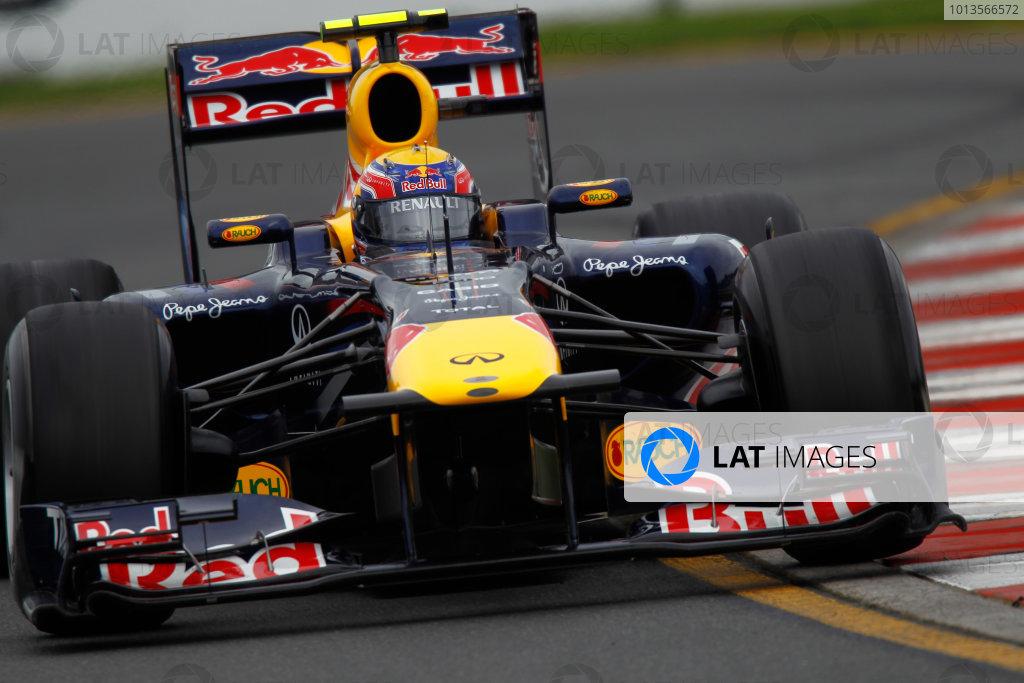 Albert Park, Melbourne, Australia 25th March 2011. Mark Webber, Red Bull Racing RB7 Renault. Action.  World Copyright: Andrew Ferraro/LAT Photographic ref: Digital Image _Q0C8173
