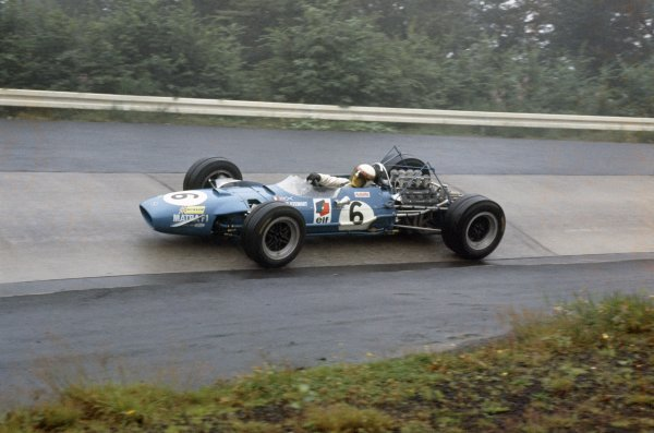 Nurburgring, Germany. 2 - 4 August 1968.Jackie Stewart (Matra MS10-Ford Cosworth), 1st position, action. World Copyright: LAT PhotographicRef: 68GER01