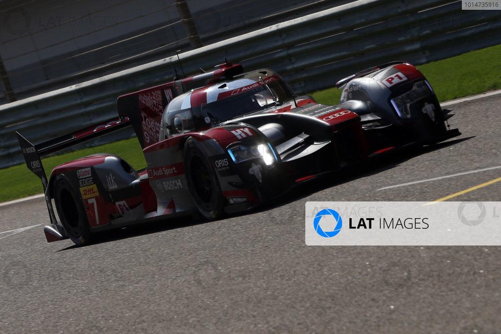 2016 FIA World Endurance Championship Rookie Test, Bahrain International Circuit, 20th November 2016, Paul Loup Chatin / Loic Duval - Audi Sport Team Joest Audi R18  World Copyright. Jakob Ebrey/LAT Photographic