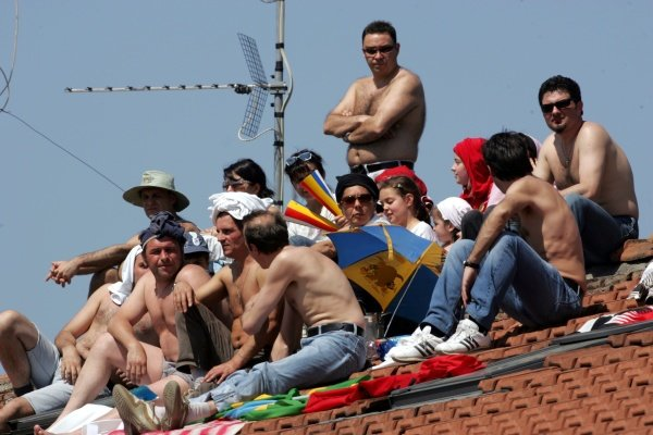 Fans on the roof.