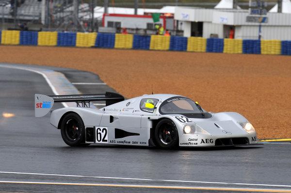 Circuit de La Sarthe, Le Mans, France. 13th - 17th June 2012.  Group C. Gareth Evans, No.62 Sauber Mercedes C9. Photo: Jeff Bloxham/LAT Photographic.   ref: Digital Image DSC_2474