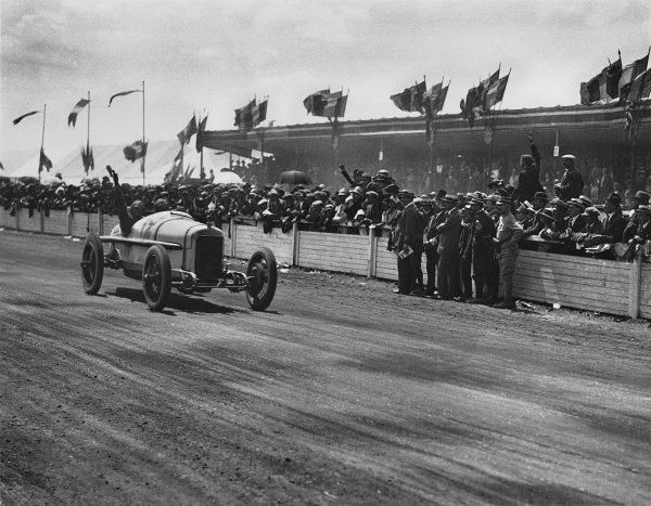 Le Mans, France. 25th July 1921.Jimmy Murphy (Duesenberg), 1st position, action.Ref: Black 7272.World Copyright - LAT Photographic.