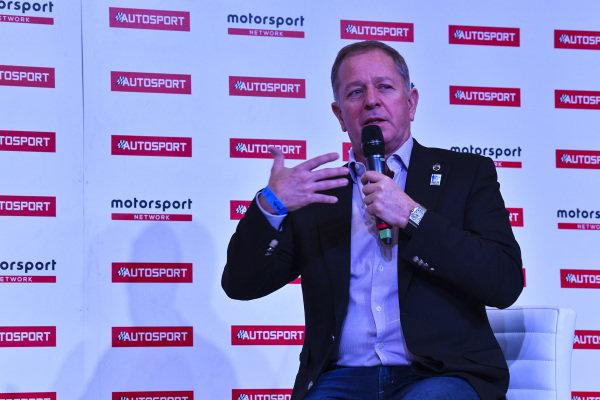 Martin Brundle talks to Stuart Codling on the Autosport Stage.