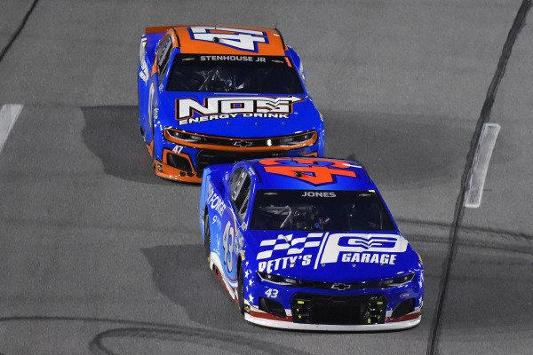 #43: Erik Jones, Richard Petty Motorsports, Chevrolet Camaro Petty's Garage and #47: Ricky Stenhouse Jr., JTG Daugherty Racing, Chevrolet Camaro NOS Energy Drink