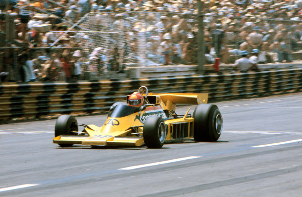 1977 Brazilian Grand Prix.Interlagos, Sao Paulo, Brazil.21-23 January 1977.Ingo Hoffmann (Copersucar Fittipaldi FD04 Ford) 7th position.World Copyright - LAT Photographic