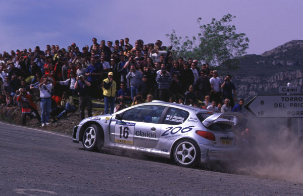 FIA World Rally ChampsCatalunya Rally, Spain. 30/3-2/4/2000Marcus Gronholm, Peugeot 206 WRC, 5th place.photo: World - McKleintel: (+44) 0208 251 3000e-mail: digital@latphoto.co uk35mm Original Image.