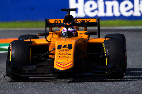 AUTODROMO NAZIONALE MONZA, ITALY - SEPTEMBER 08: Marino Sato (JPN, CAMPOS RACING) during the Monza at Autodromo Nazionale Monza on September 08, 2019 in Autodromo Nazionale Monza, Italy. (Photo by Joe Portlock / LAT Images / FIA F2 Championship)