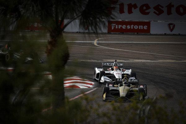 Marcus Ericsson, Arrow Schmidt Peterson Motorsports Honda, Santino Ferrucci, Dale Coyne Racing Honda