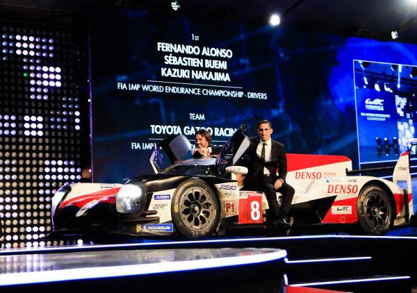 Sébastien Buemi, Fernando Alonso and Kazuki Nakajima