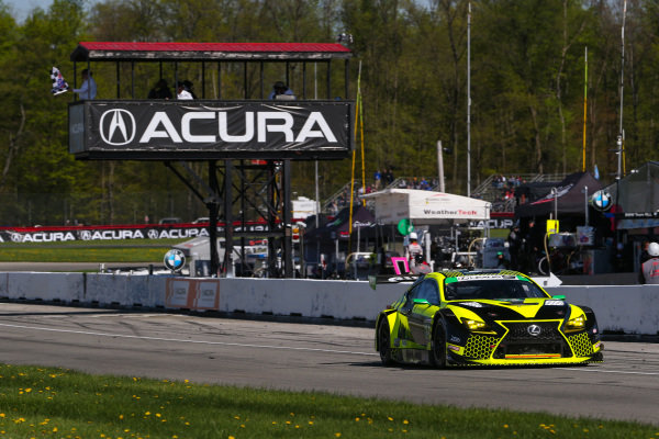 #14 AIM Vasser Sullivan Lexus RC F GT3, GTD: Richard Heistand, Jack Hawksworth, Checkered Flag