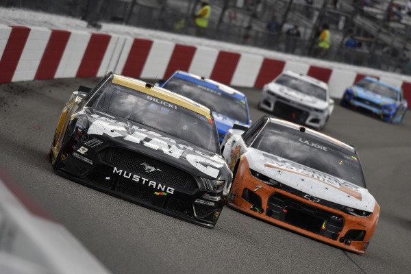 #52: Josh Bilicki, Rick Ware Racing, Ford Mustang and #7: Corey LaJoie, Spire Motorsports, Chevrolet Camaro Schluter Systems