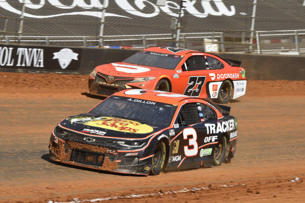 #3: Austin Dillon, Richard Childress Racing, Chevrolet Camaro Bass Pro Shops/Tracker Off Road, #23: Bubba Wallace, 23XI Racing, Toyota Camry DoorDash