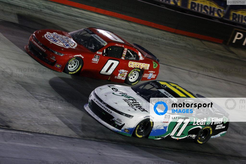 #11: Justin Haley, Kaulig Racing, Chevrolet Camaro LeafFilter Gutter Protection and #0: Jeffrey Earnhardt, JD Motorsports, Chevrolet Camaro TeamJDMotorsports.com