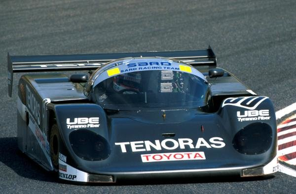Roland Ratzenberger drving Toyota Group C in  1989 World Sports Prototype Championship