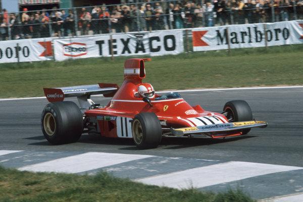1974 Belgian Grand Prix  Nivelles-Baulers, Belgium. 10-12th May 1974.  Clay Regazzoni, Ferrari 312B3, 4th position.  Ref: 74BEL05. World Copyright: LAT Photographic