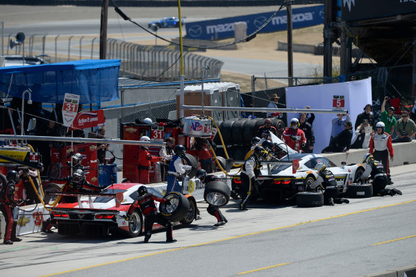 1-3 May, 2015, Monterey, CaliforniaUSA 31, Chevrolet, Corvette DP, P, Eric Curran, Dane Cameron ,5, Chevrolet, Corvette DP, P, Joao Barbosa, Christian Fittipaldi ©2015, Richard Dole LAT Photo USA