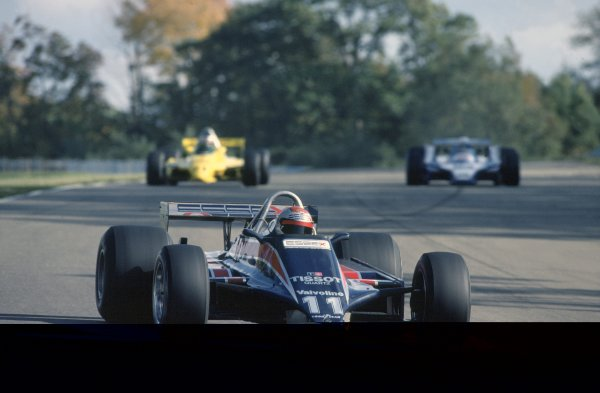 1980 United States Grand Prix.Watkins Glen, USA. 3-5 October 1980.Mario Andretti (Lotus 81-Ford Cosworth), 6th position.World Copyright: LAT PhotographicRef: 35mm transparency 80USA04