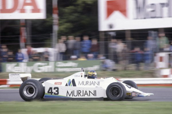 1980 British Grand Prix.Brands Hatch, Great Britain. 11-13 July 1980.Desire Wilson (Williams FW07-Ford Cosworth), did not qualify.World Copyright: LAT PhotographicRef: 35mm transparency 80GB20