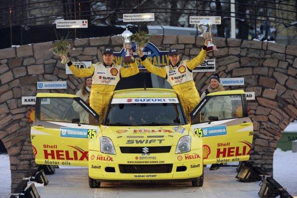 2006 FIA World Rally Champs. Round two Swedish Rally.2nd-5th February 2006.PG Andersson, Suzuki, podium.World Copyright: McKlein/LAT