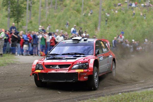 2005 FIA World Rally Champs. Round ten Rally Finland.4th - 7th August 2005.Harri Rovanpera, Mitsubishi, action.World Copyright: McKlein/LAT