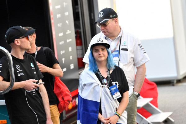 Valtteri Bottas (FIN) Mercedes-AMG F1 fan