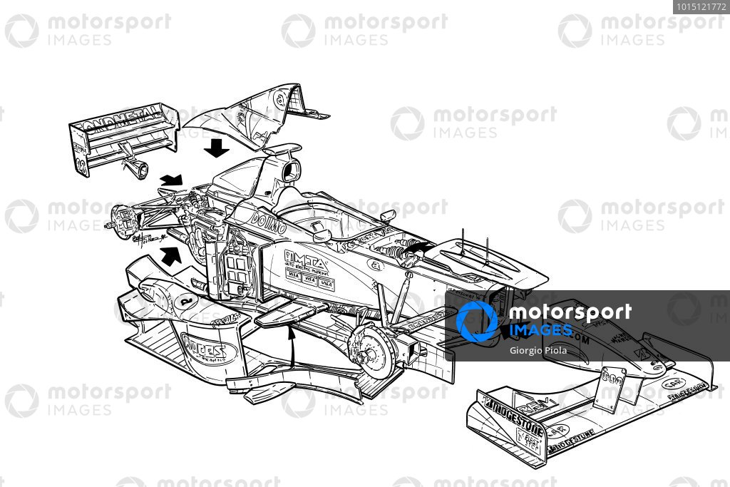 Minardi M198 1998 exploded detail