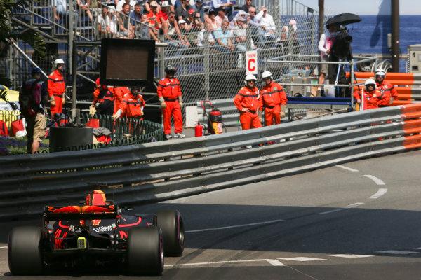 Monte Carlo, Monaco. Thursday 25 May 2017. Daniel Ricciardo, Red Bull Racing RB13 TAG Heuer. World Copyright: Charles Coates/LAT Images ref: Digital Image AN7T2730