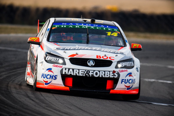 2017 Supercars Championship Round 2.  Tasmania SuperSprint, Simmons Plains Raceway, Tasmania, Australia. Friday April 7th to Sunday April 9th 2017. Tim Slade drives the #14 Freightliner Racing Holden Commodore VF. World Copyright: Daniel Kalisz/LAT Images Ref: Digital Image 070417_VASCR2_DKIMG_1614.JPG