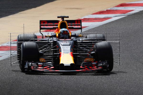 Bahrain International Circuit, Sakhir, Bahrain.  Tuesday 18 April 2017. Daniel Ricciardo, Red Bull Racing RB13 TAG Heuer. World Copyright: Glenn Dunbar/LAT Images ref: Digital Image _X4I2146