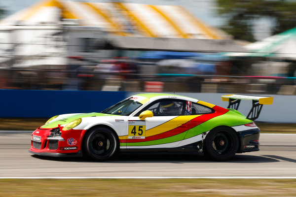 2017 Porsche GT3 Cup USA Sebring International Raceway, Sebring, FL USA Friday 17 March 2017 45, Charles Luck IV, GT3G, USA, 2016 Porsche 991 World Copyright: Jake Galstad/LAT Images ref: Digital Image lat-galstad-SIR-0317-14697