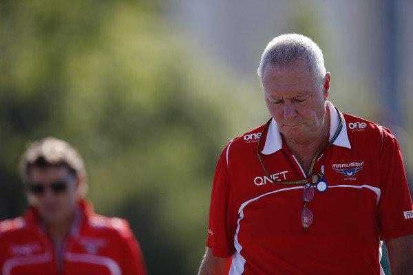 Circuit Gilles Villeneuve, Montreal, Canada. Saturday 7 June 2014. John Booth, Team Principal, Marussia F1. World Copyright: Charles Coates/LAT Photographic. ref: Digital Image _J5R1060