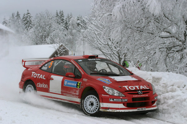 2004 FIA World Rally Champs. Round two, Swedish Rally.5th-8th February 2004.Marcus Gronholm, Peugeot, action.World Copyright: McKlein/LAT