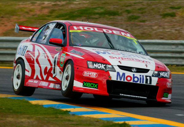 2003 Australian V8 Supercars, Round 9, Sandown, 14th September 2003.V8 Supercar drivers Mark Skaife and Todd Kelly in action during the Betta Electrical 500 held at Sandown International Raceway Melbourne, Australia this weekend.Photo: Mark Horsburgh/LAT Photographic