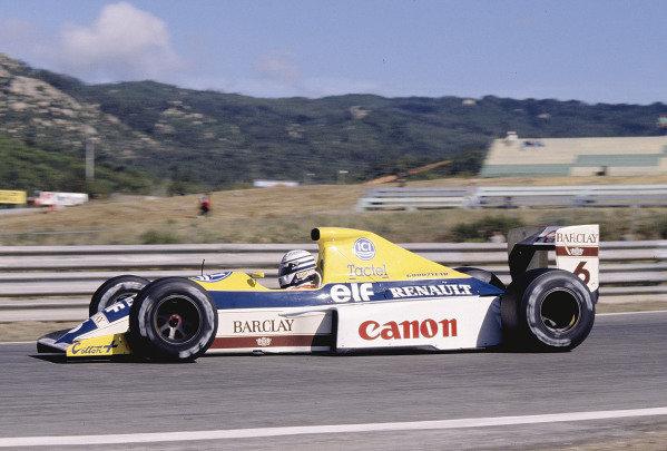1990 Spanish Grand Prix.Jerez, Spain.28-30 September 1990.Riccardo Patrese (Williams FW13B Renault) 5th position.Ref-90 ESP 49.World Copyright - LAT Photographic