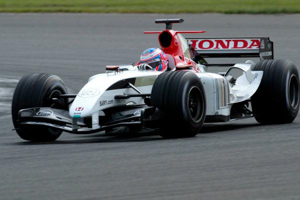 2004 Formula One Testing.Silverstone, England. 3rd June 2004.Jenson Button, BAR Honda 006. Action.World Copyright:Peter Spinney/LAT.Ref:Digital image only