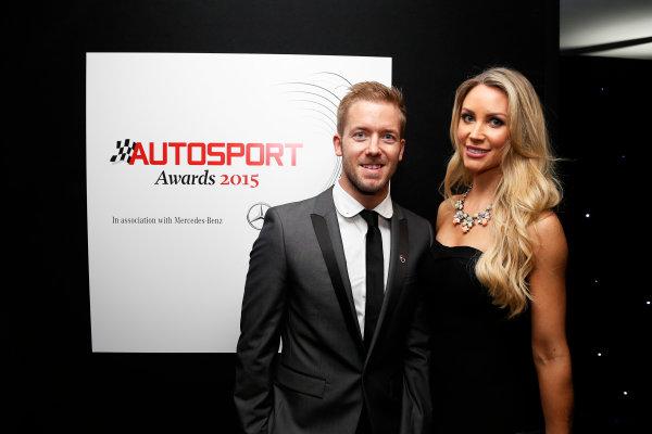 2015 Autosport Awards. Grosvenor House Hotel, Park Lane, London. Sunday 6 December 2015. Sam Bird. World Copyright: Adam Warner/LAT Photographic. ref: Digital Image _L5R8985