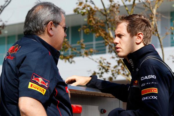 Korea International Circuit, Yeongam-Gun,South Korea.16th October 2011.Sebastian Vettel, Red Bull Racing RB7 Renault. World Copyright:Charles Coates/LAT Photographicref: Digital Image _X5J7308