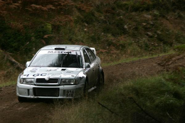 Perth, Scotland. 28th September 2008. Richard Hogg/Mark Hanna - Skoda Octavia WRC. World Copyright: Ebrey/LAT Photographic