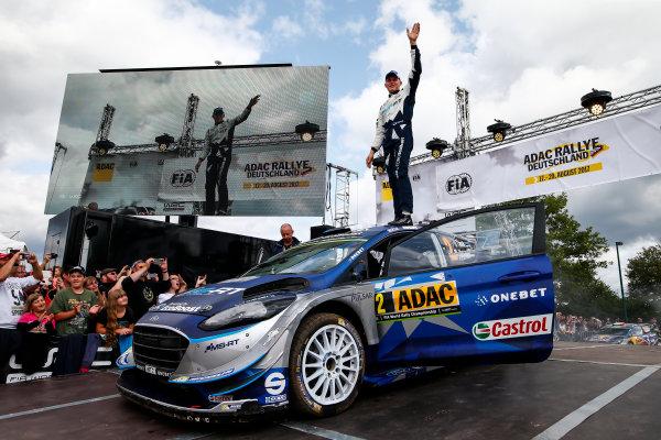 2017 FIA World Rally Championship, Round 10, Rallye Deutschland, 17-20 August, 2017, Ott Tanak, Ford, podium, Worldwide Copyright: McKlein/LAT
