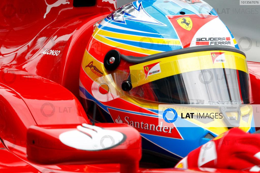 Albert Park, Melbourne, Australia 25th March 2011. Fernando Alonso, Ferrari 150° Italia. Portrait. Helmets.  World Copyright: Steven Tee/LAT Photographic ref: Digital Image _A8C2649