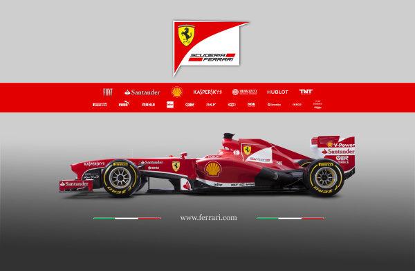 Maranello, Italy   The new Ferrari F138. Studio image. Photo: Ferrari (  ref: Digital Image 130008_f138